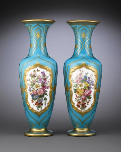 Baccarat Opaline Glass Vases