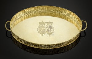 Royal Silver-Gilt Tray