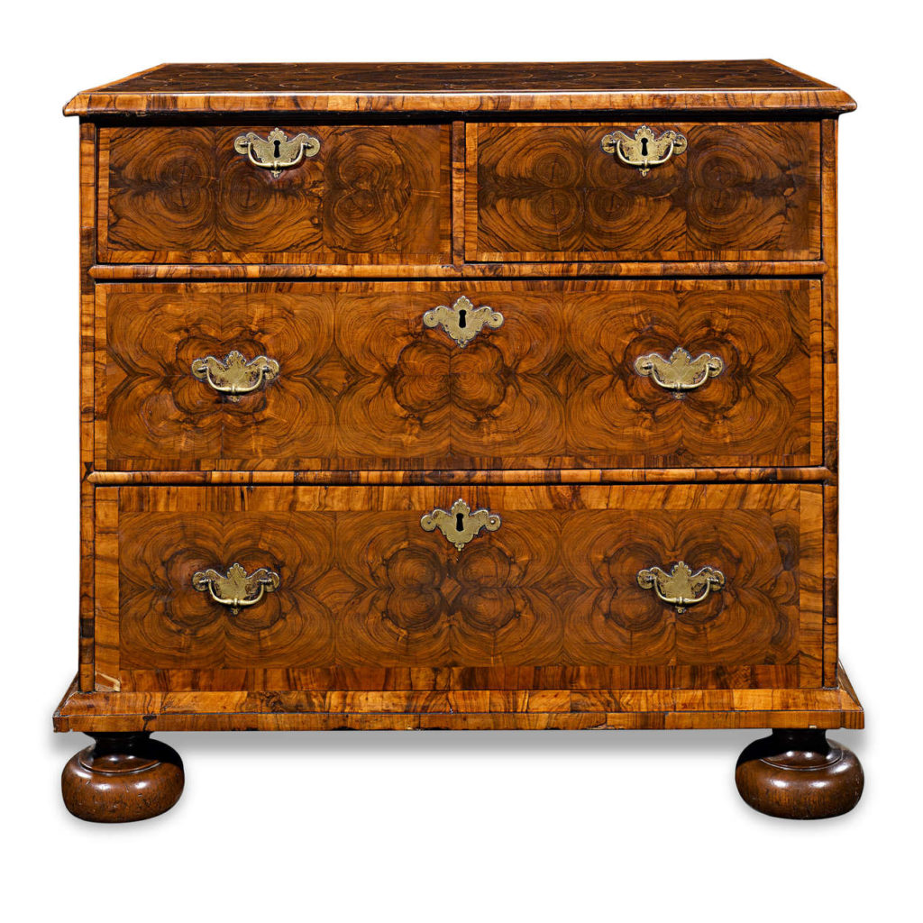 17th Century English Oyster-Veneered Chest
