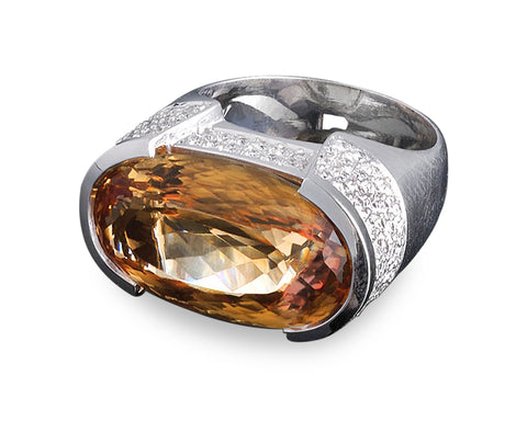 15.00-Carat Imperial Topaz Ring