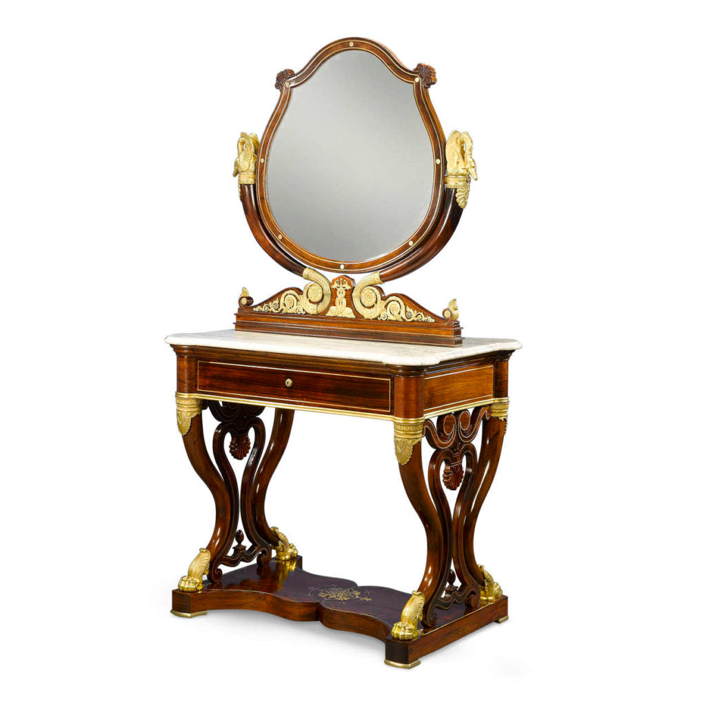 French Double Dressing Table
