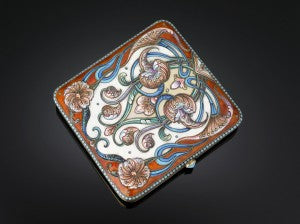 Crafted of of cloisonné enamel, this delicate cigarette case would make for the perfect hostess gift.