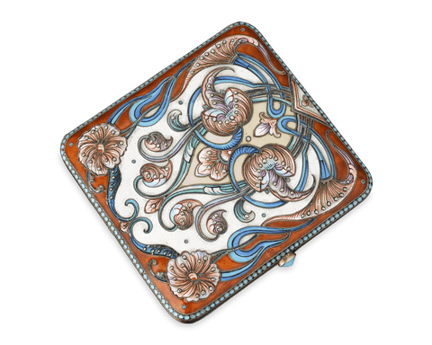 Russian Enamel Cigarette Case