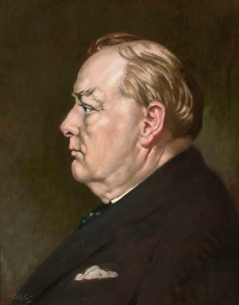 Profile for Victory Portrait of Churchill by Alfred Cooper