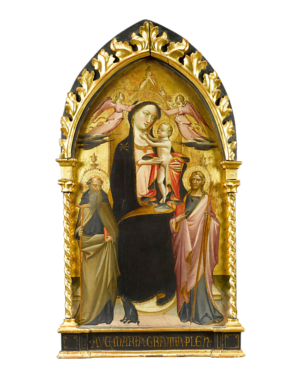 Madonna With Child Enthroned By Giovanni Dal Ponte (Di Marco)