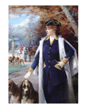 Portrait of Sarah Bernhardt Hunting with Hounds by Louise Abbéma