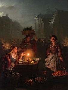 A mastery of light and composition distinguishes this outstanding painting by Petrus van Schendel
