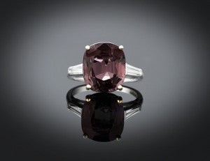 Natural Alexandrite and Diamond Ring