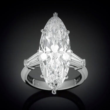 8.03-carat Marquise-Cut Diamond Ring