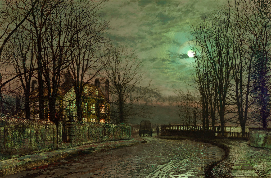 The Bend of the Road by John Atkinson Grimshaw. Dated 1883-4.