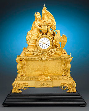This magnificent ormolu clock was created to commemorate one of France's most important events, the return of Napoleon Bonaparte's remains to France