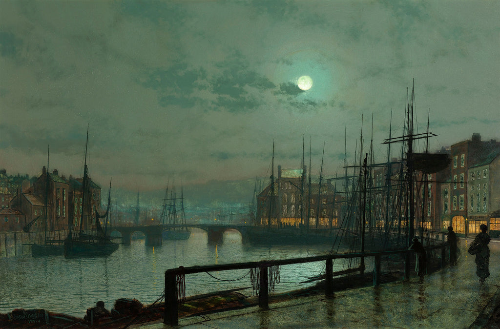 Whitby by John Grimshaw. Dated 1883.