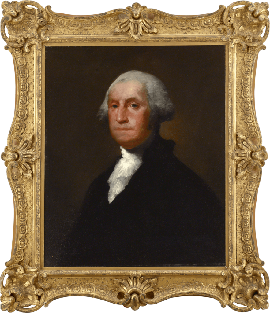 Portrait of George Washington attributed to Gilbert Stuart