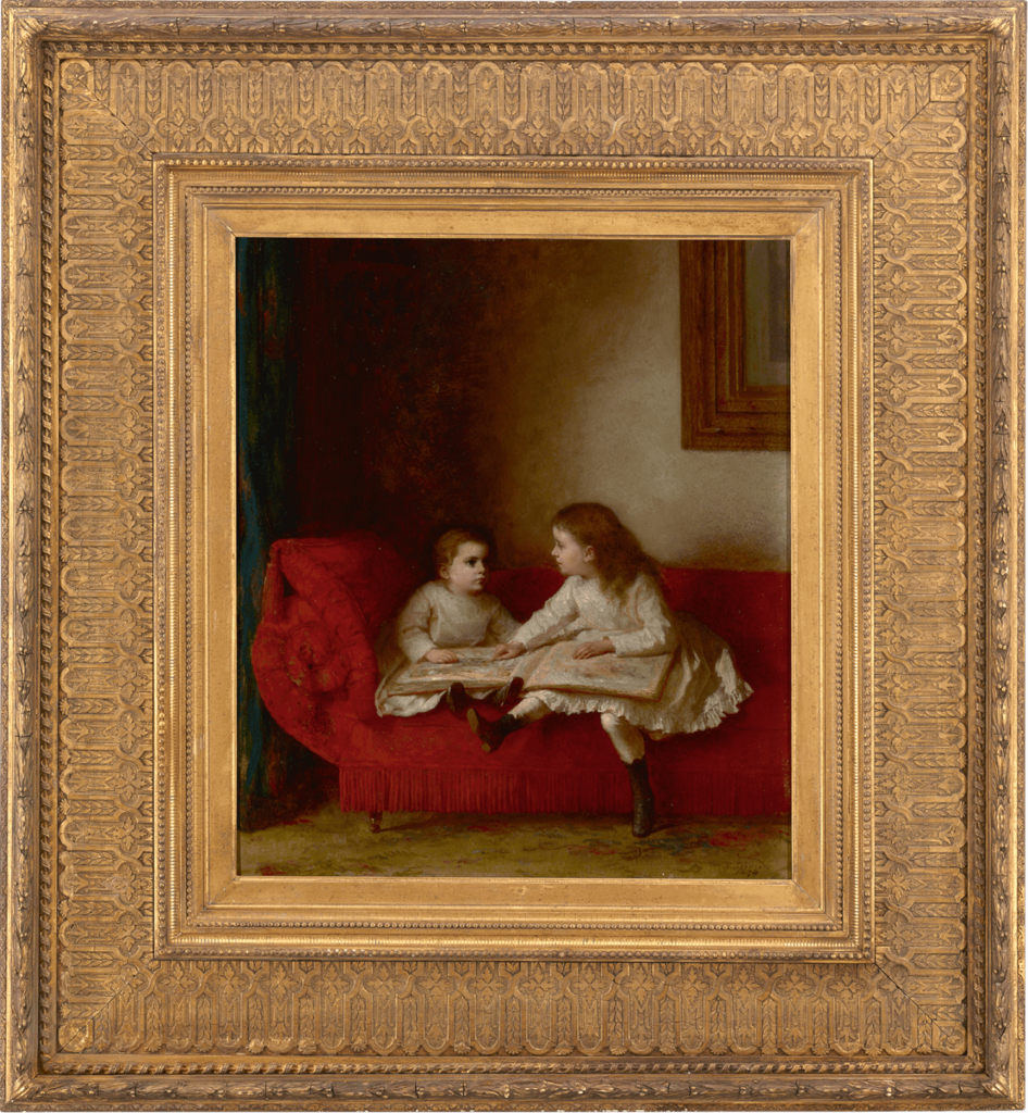 The Lesson by Eastman Johnson
