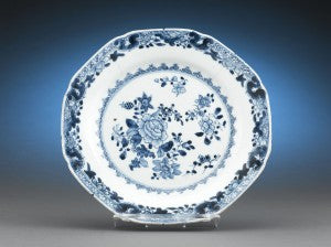 This lovely Blue Canton China Dinner Plate was used by George and Martha Washington