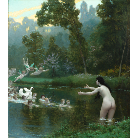 Leda and the Swan by Jean-Léon Gérôme, circa 1896