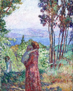 Lebasque embraces the techniques of the post-impressionists, the Nabi painters and the fauvists.