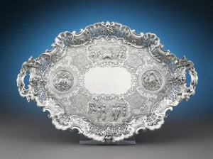 Treaty of Nanking Silver Tray, for Sir Henry Pottinger