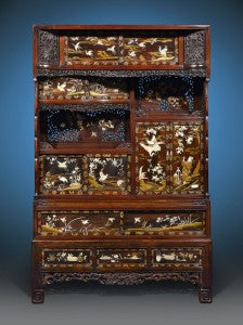 This impeccable Japanese cabinet is a stunning example of Meiji-period furniture