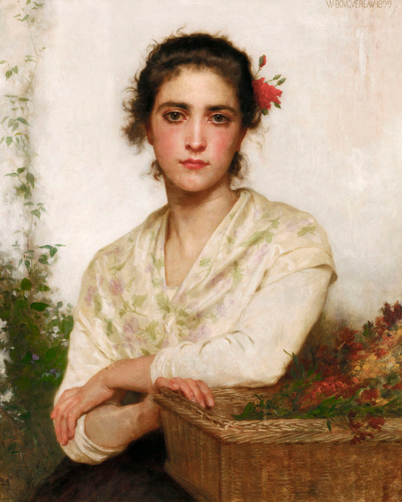 La Bouquetiere by Bouguereau
