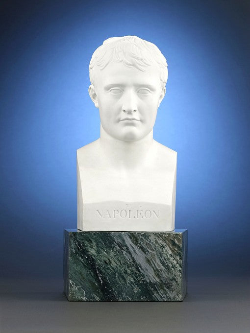 A Sèvres bisque porcelain bust of the great Napoleon Bonaparte was created during the ruler's lifetime