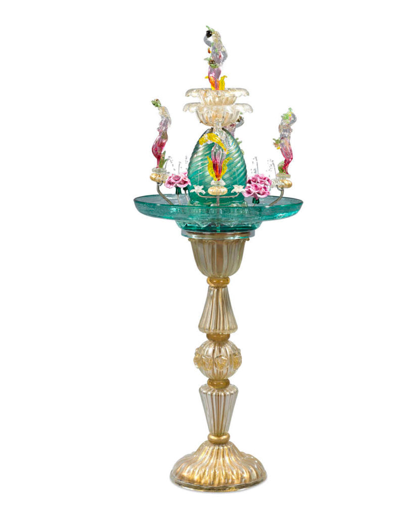 A Venetian glass fountain, circa 1940