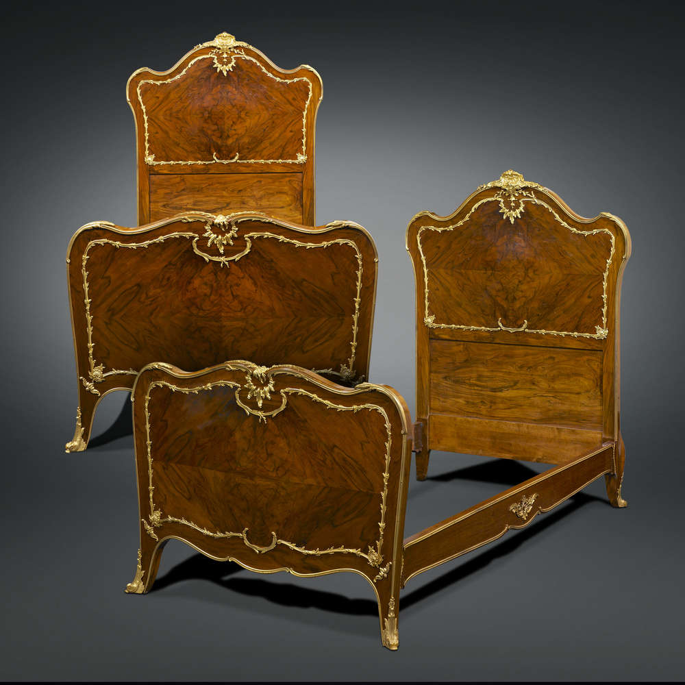 Rococo Style Pair of Twin Beds by François Linke