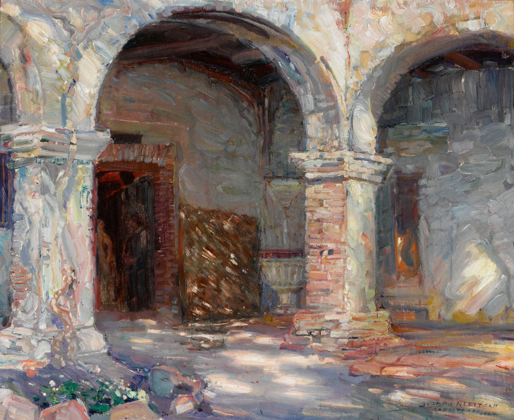 Mission Cloisters, San Juan Capistrano by Joseph Kleitsch