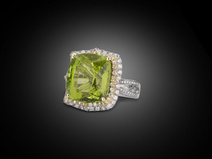 Weighing an amazing 30.87 carats, this gem is marked by exquisite color and clarity