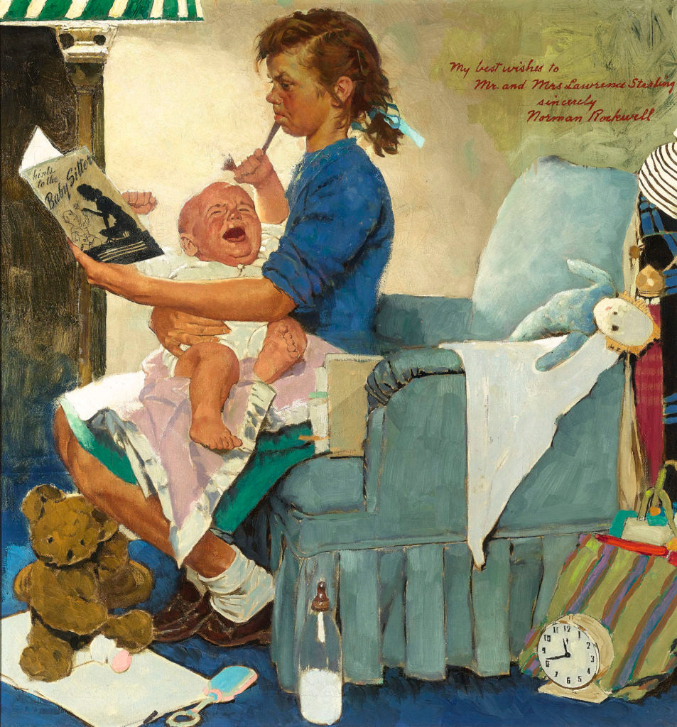 The Babysitter by Norman Rockwell