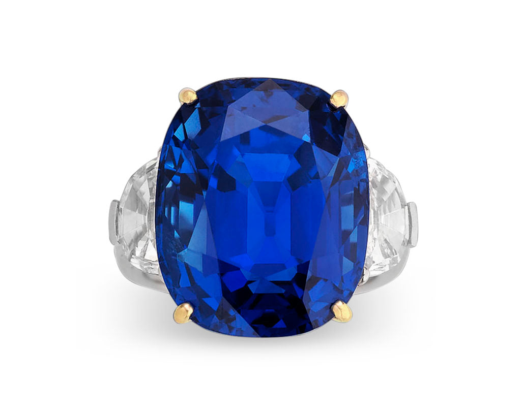 This stunning, natural Burma sapphire boasts 35.07 remarkable carats