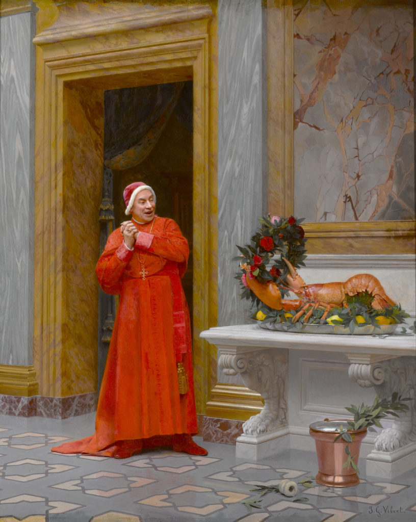 Les Deux Robes Rouges by Jehan-Georges Vibert