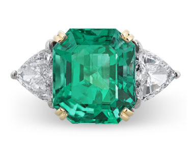 A 13.63-carat Colombian emerald ring
