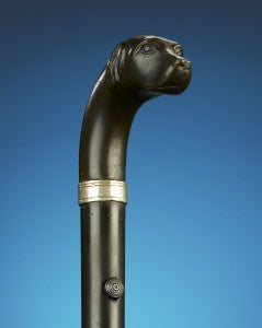 It is estimated that only 1,000 of these canine-form rifle canes were produced