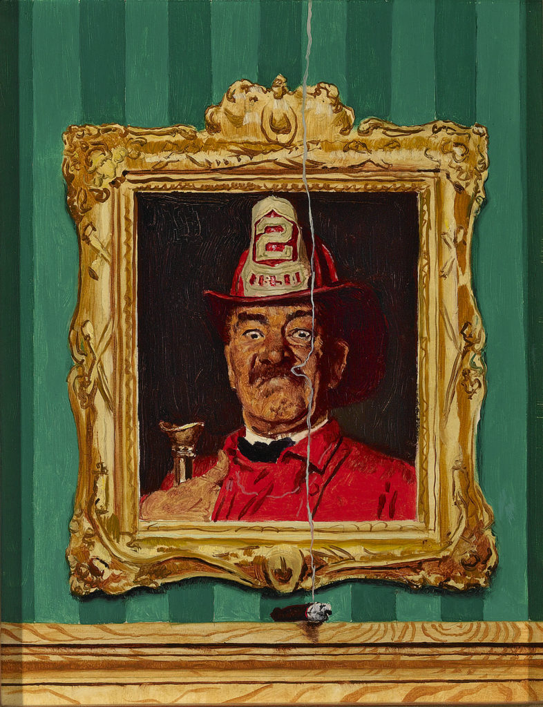 The Fireman by Norman Rockwell