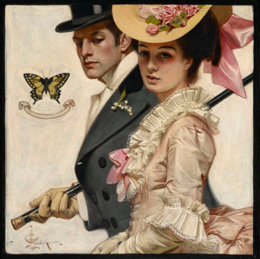 Easter Couple by J.C. Leyendecker, circa 1906