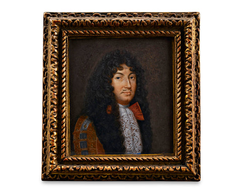 Miniature Portrait of King Louis XIV by Jacques Antoine Arlaud, Circa 1690, M.S. Rau