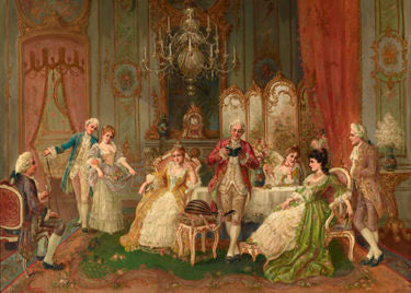 The high society art of leisure is the subject of this extraordinary work by J Corneau