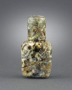 As one of the earliest examples of perfume bottles in history, this Egyptian examples is a testament to the high regard of the fragrant substance