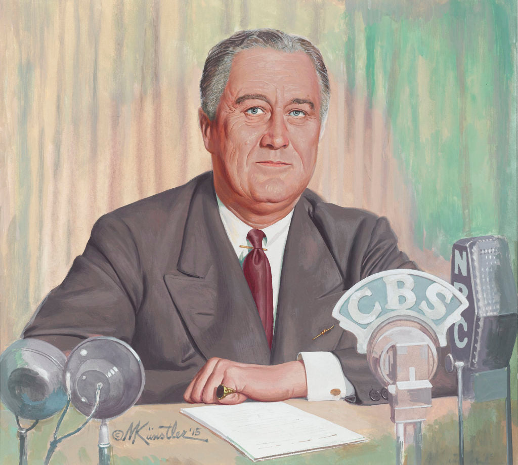 Franklin Roosevelt's First Fireside Chat By Mort Kunstler