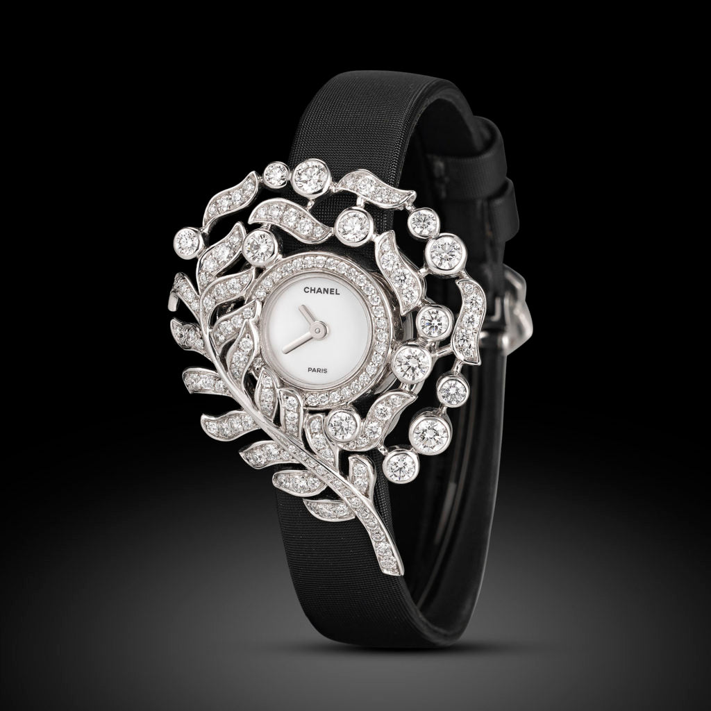 Plume Diamond Watch by Chanel