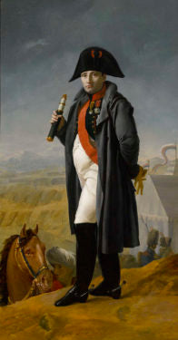This portrait by Joseph Franque depicts Napoleon immediately prior to his disastrous attempt to invade Russia in 1812.