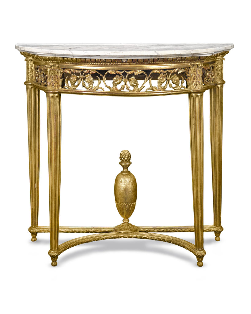 Louis XVI Giltwood Console Table