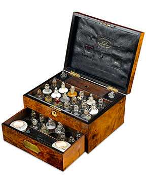This incredible medicine chest would have been an invaluable part of the 19th-century household. These chests were the first, and sometimes only, means of immediate medical treatment.