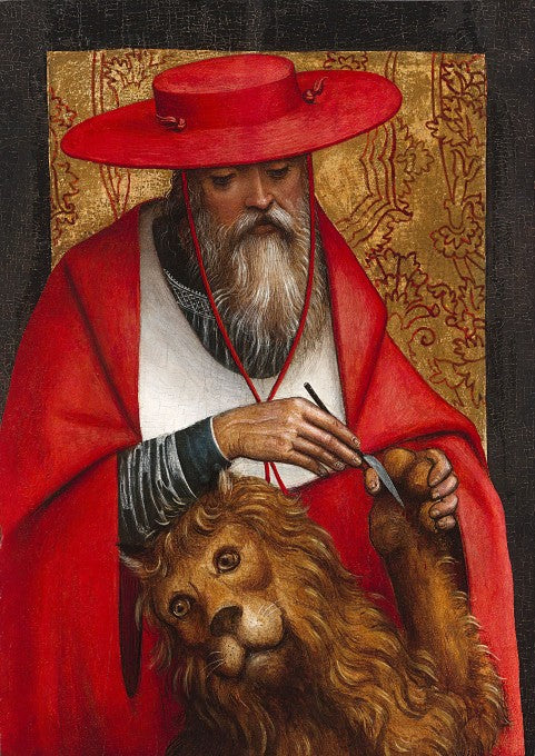 This remarkably rare oil was composed by Italian Renaissance artist Defendente Ferrari