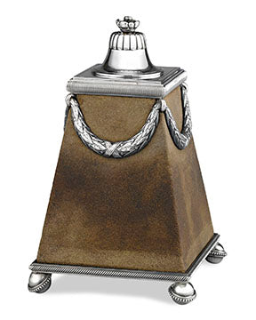 Fabergé Boardroom Cigar Lighter, silver and sandstone, which functions as a striking surface for one's match