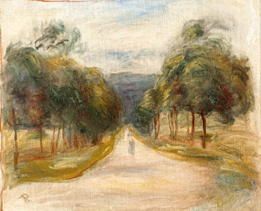 La Route Bordée d'Arbres by Pierre-Auguste Renoir