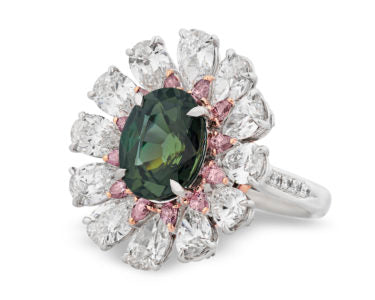 Alexandrites, a variety of the Chrysoberyl mineral species, are counted among the rarest gemstones in the world