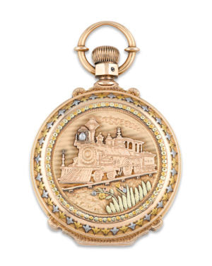 A pocket watch for a railroad engineer by Waltham.