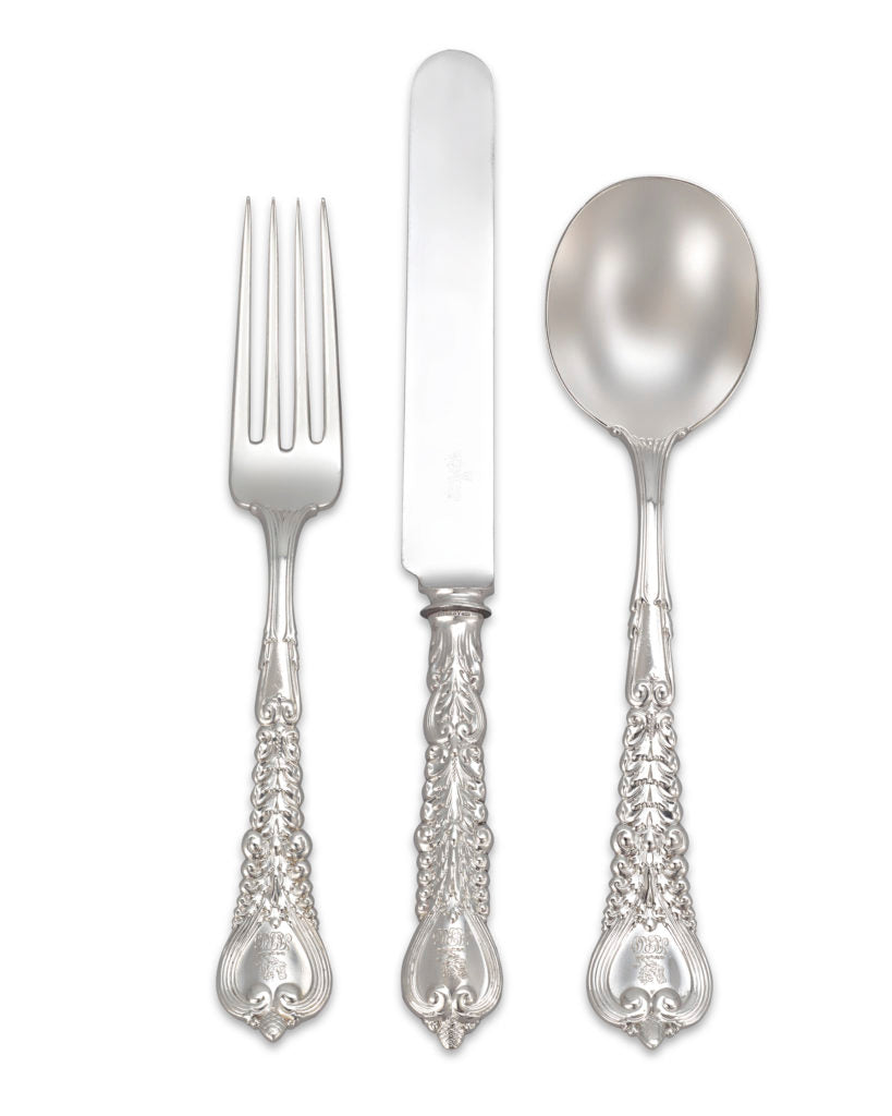Be aware that certain foods can cause tarnishing of your silverware. With proper care, you can keep your most precious silver service looking beautiful for years to come. Illustrated: pieces from Tiffany & Co.'s Florentine Flatware Service. Circa 1900